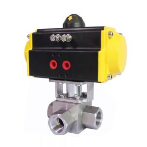 COVNA HK56-G Pneumatic Actuated High Pressure 3 Way Ball Valve