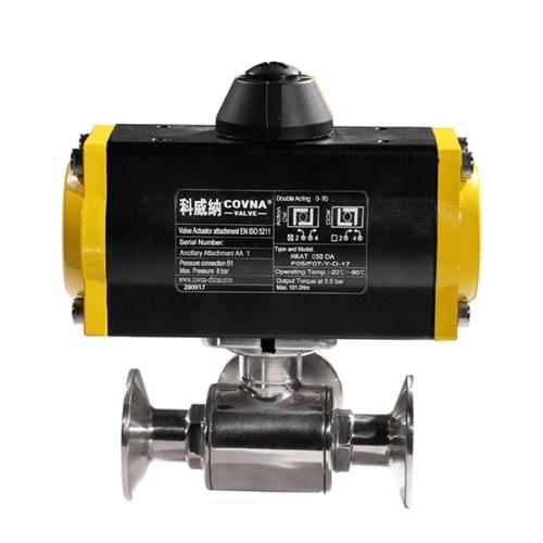 7. COVNA HK56W 2 Way Pneumatic Operated Sanitary Ball Valve