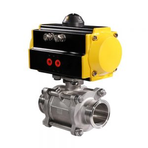 HK56-3PS-K 3PC Tri-Clamp Pneumatic Actuated Ball Valve