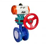 Soft Seat Ductile Iron Double Flanged Air Actuator Control Butterfly Valve