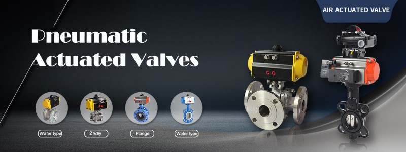 pneumatic actuated ball valve and butterfly valve